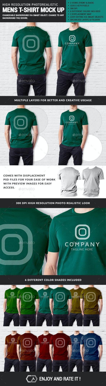 Men Multipurpose Tshirt Mock Up - T-shirts Apparel