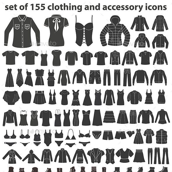 Set of 155 Clothing Icons