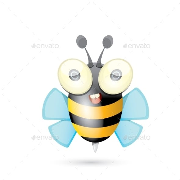 Cartoon Bright Baby Bee
