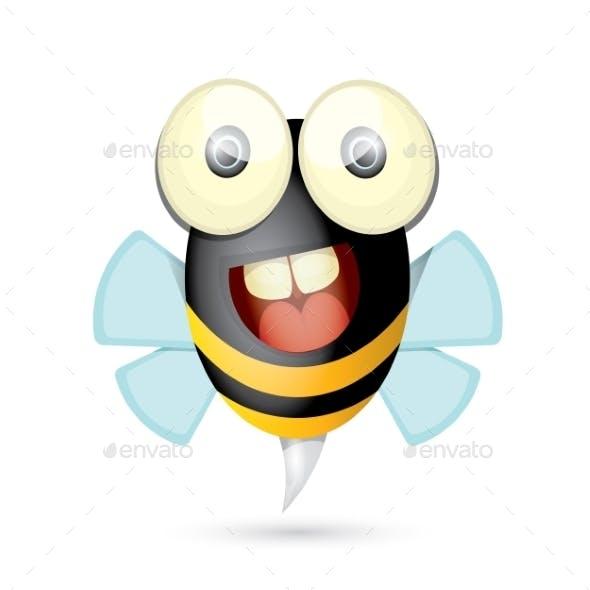 Cartoon Bright Baby Bee