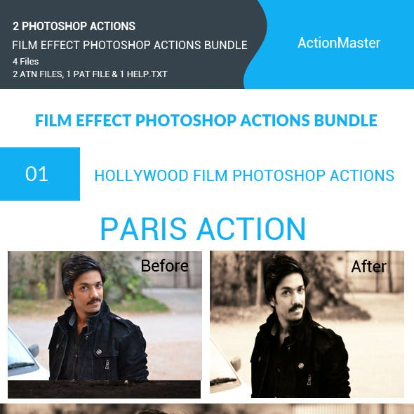 Film Effect Photoshop Actions Bundle