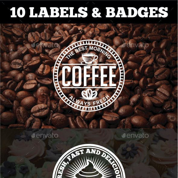 10 Vintage Badges and Logos