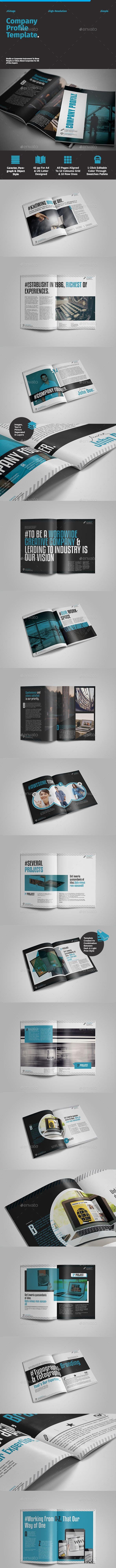 Company Profile Template - Portfolio Brochures