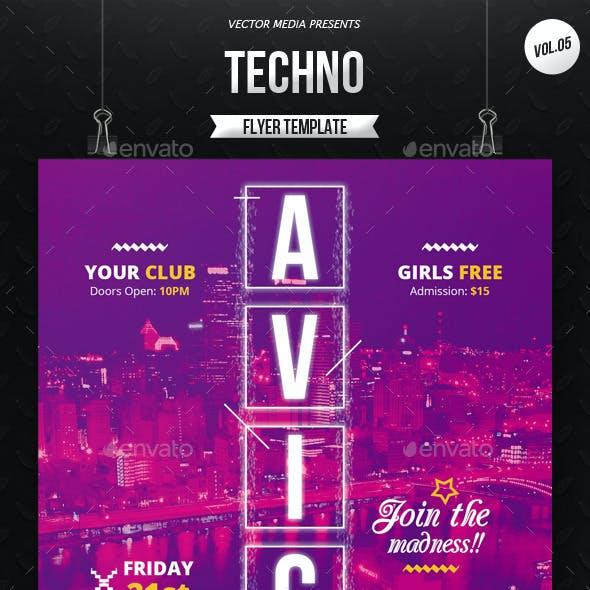 Techno - Flyer [Vol.5]
