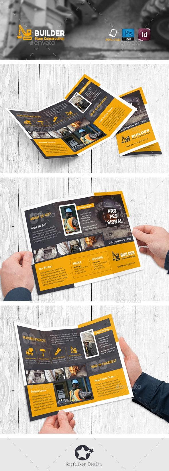 Construction Tri-Fold Templates - Corporate Brochures