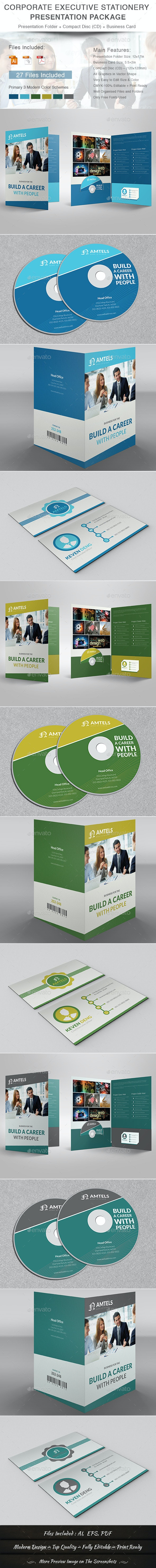 Corporate Executive Stationery Presentation Packag - Stationery Print Templates