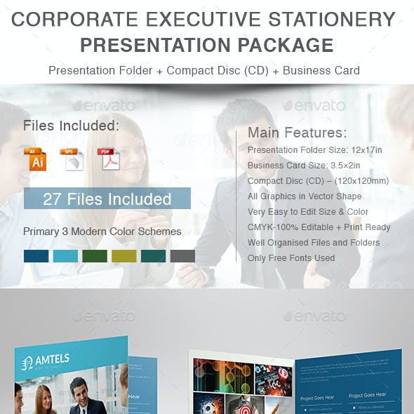 Corporate Executive Stationery Presentation Packag