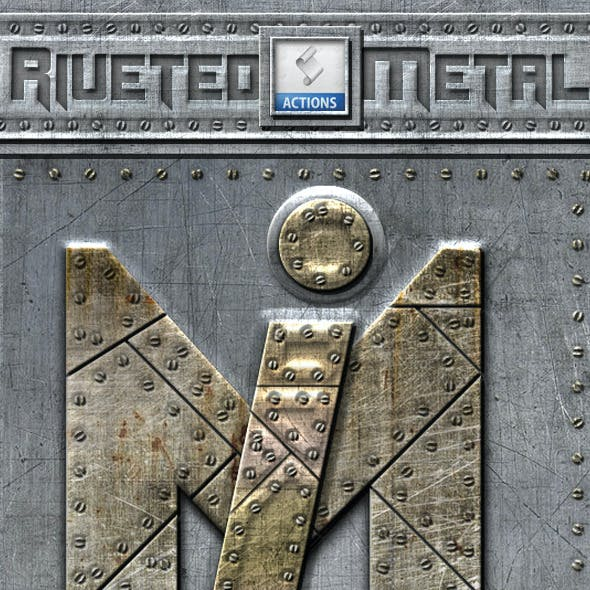 Riveted Metal Photoshop Actions
