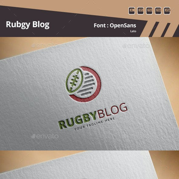 Rugby Blog Logo Template