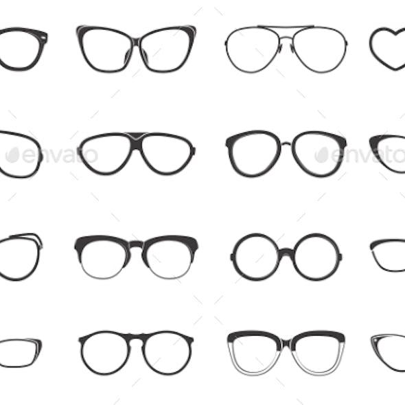 Eyeglasses Set Flat