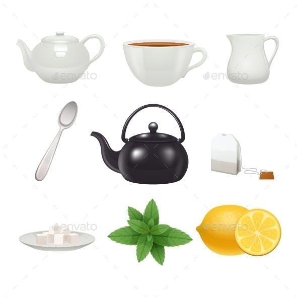 Tea Set Icons Collection