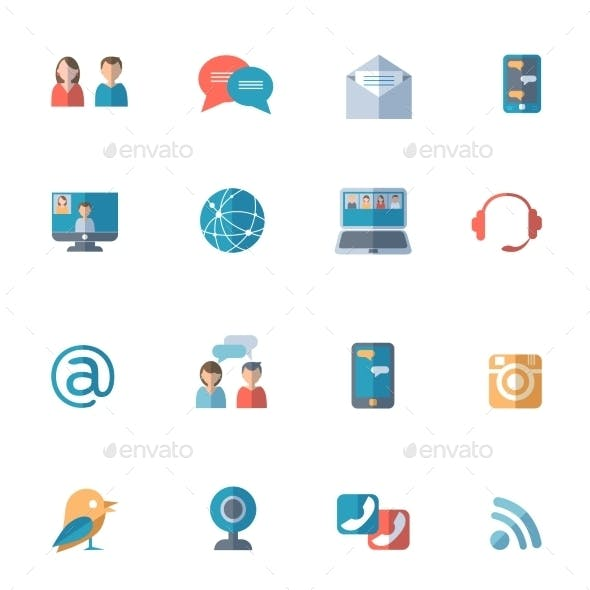 Social Networks Icons Set