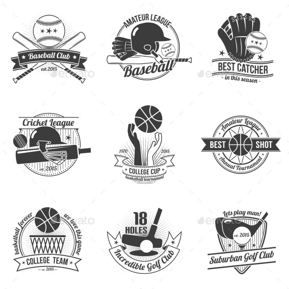 Sport Label Set