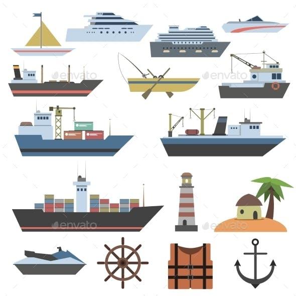 Ship Flat Icon