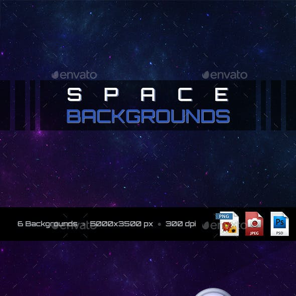 6 Space Backgrounds