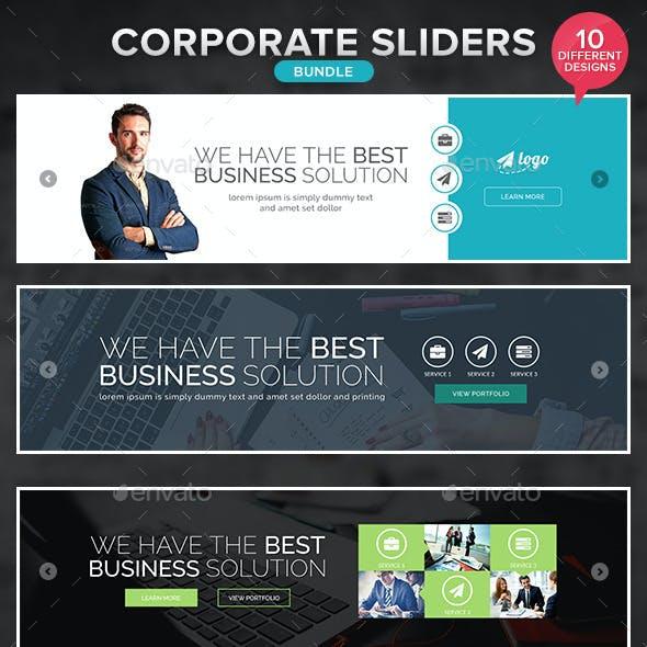 Corporate Sliders Bundle - 10 Designs