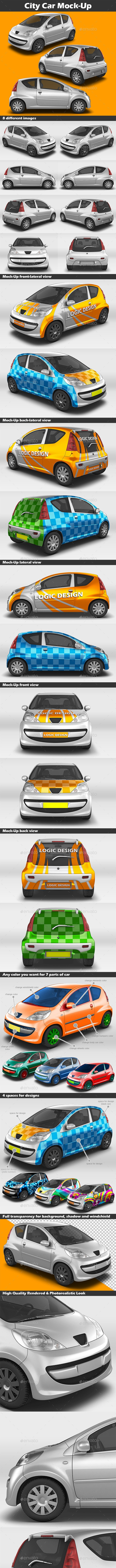 City Car Mock-Up - Vehicle Wraps Print