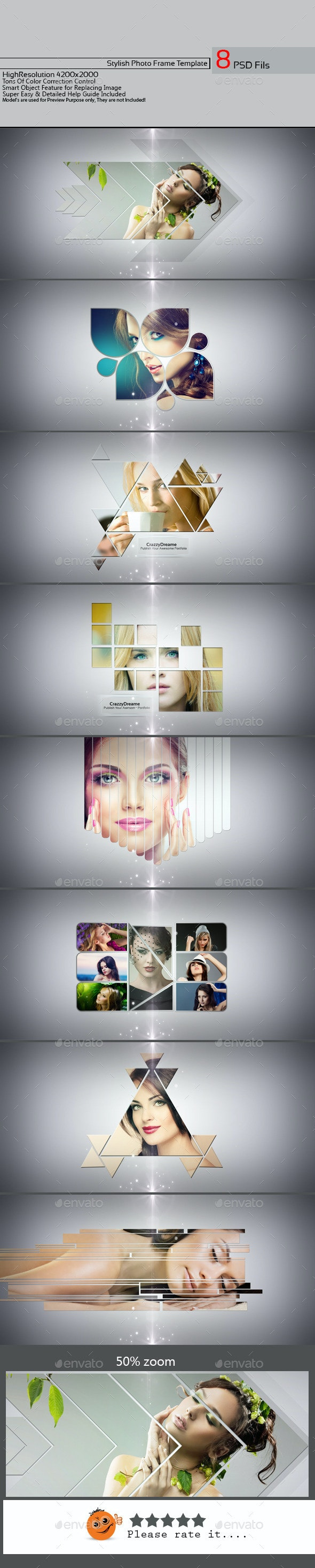 Stylish Photo Frame Template v01 - Photo Templates Graphics