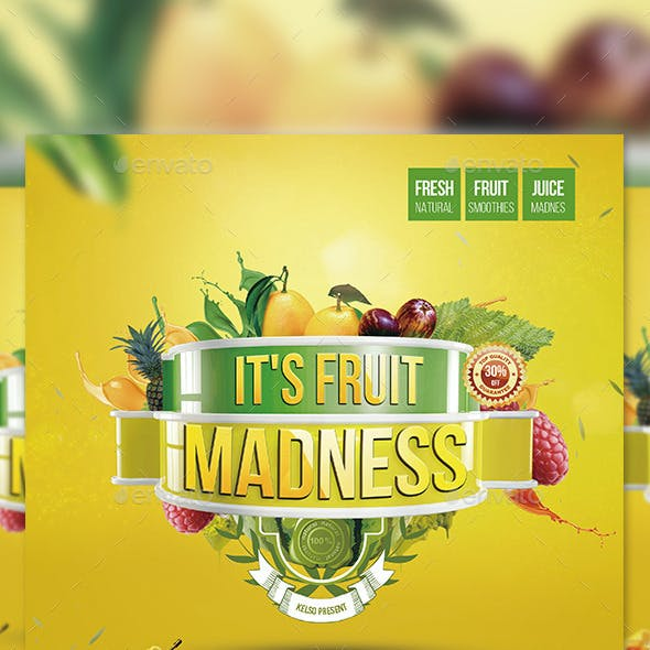 Fruit Juice Flyer