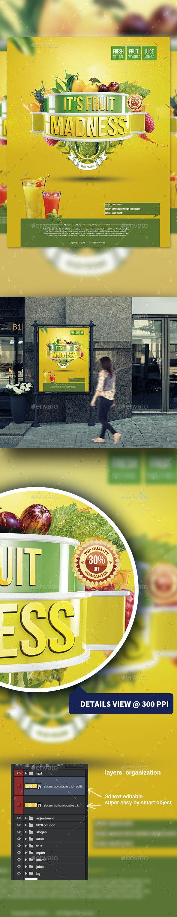 Fruit Juice Flyer - Flyers Print Templates