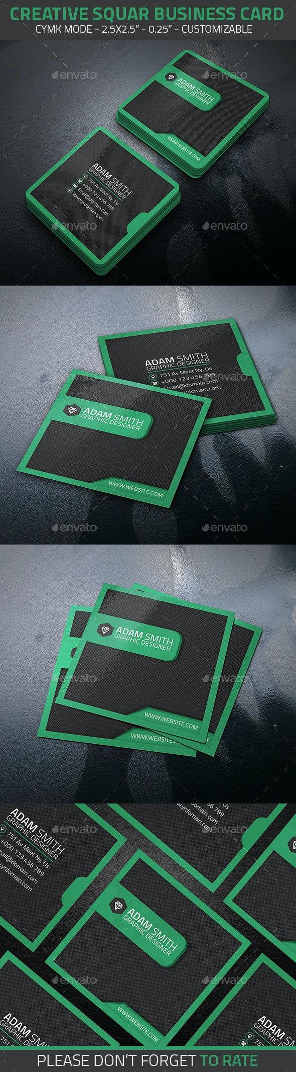 Creative Squar Business Card - Creative Business Cards