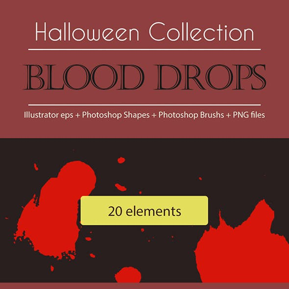 Halloween Collection - Blood Drops