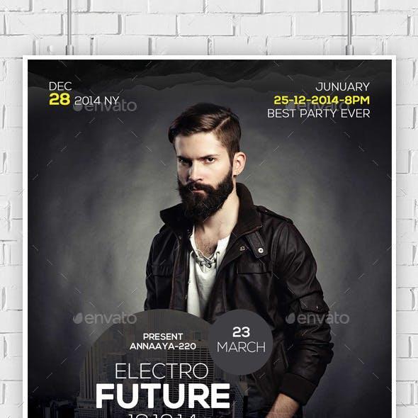 Electro Concert Dj Flyer