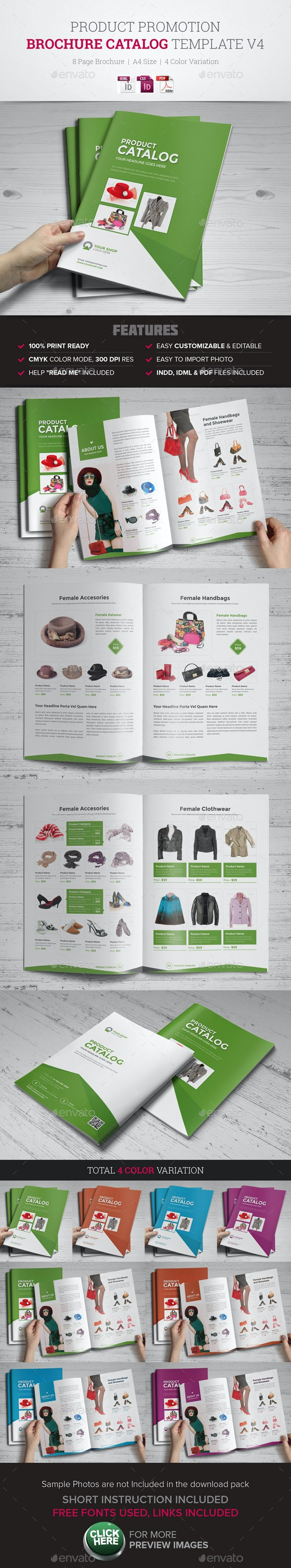 Product Promotion Catalog InDesign Template v4 - Catalogs Brochures