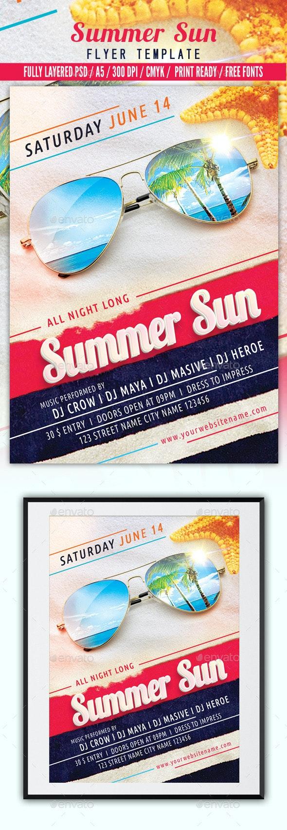 Summer Sun Flyer Template - Events Flyers