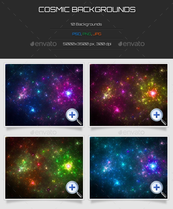 10 Cosmic Backgrounds - Abstract Backgrounds