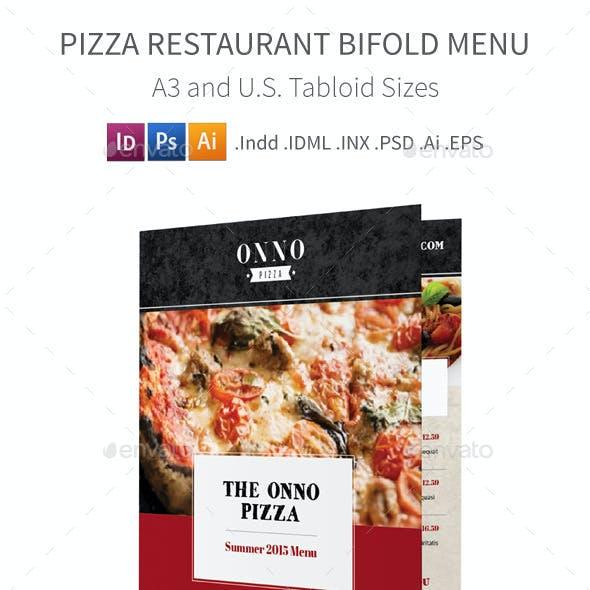 Pizza Restaurant Bifold / Halffold Menu