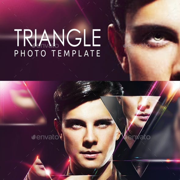 Triangle Photo Template