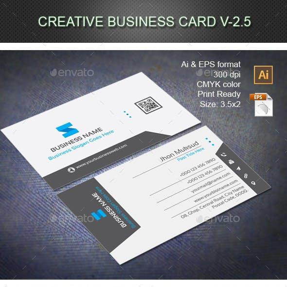 Creative Business Card V-2.5
