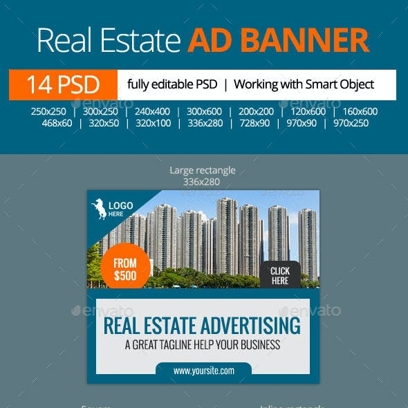 Real Estate Advertising Web Banners