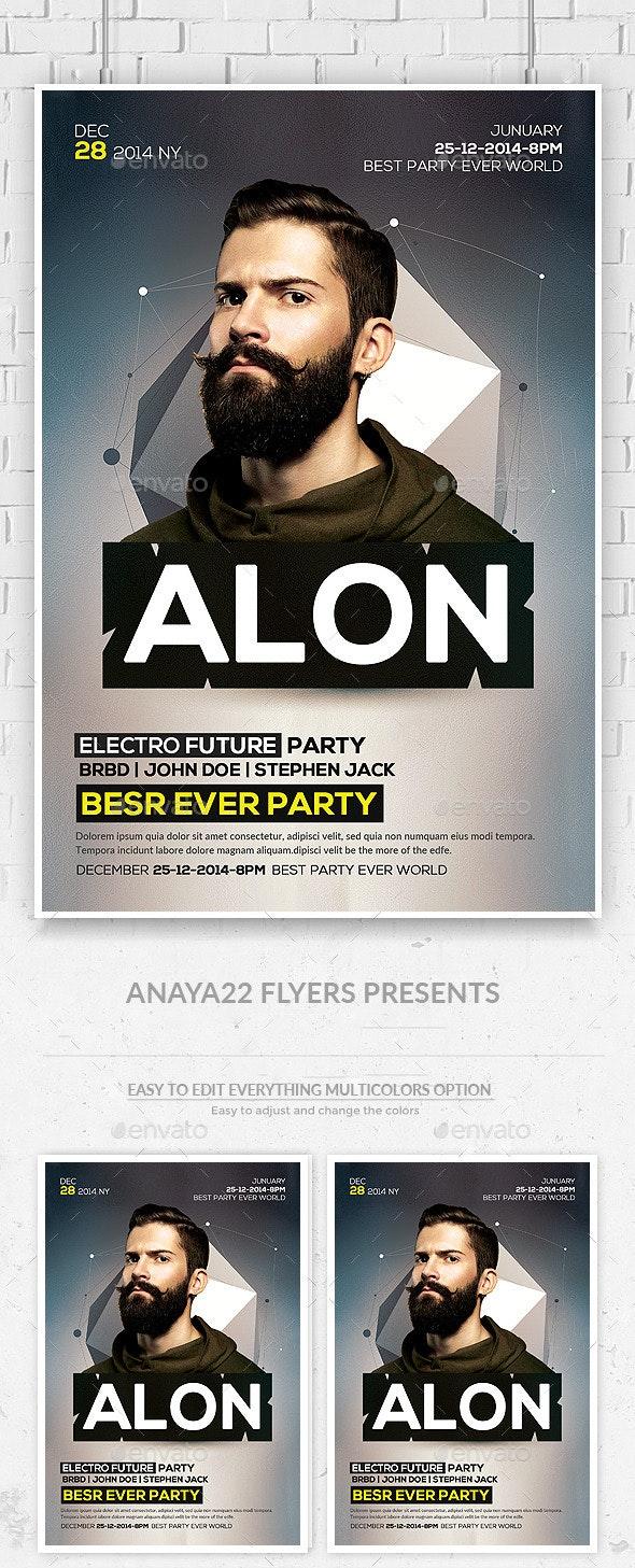 Electro Concert Dj Flyer  - Clubs & Parties Events