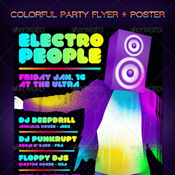 Colorful Party Flyer + Poster