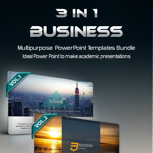 3 in 1 Business PowerPoint Template Bundle