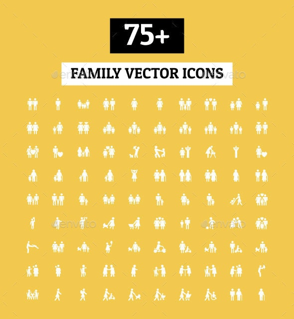 75+ Family Vector Icons