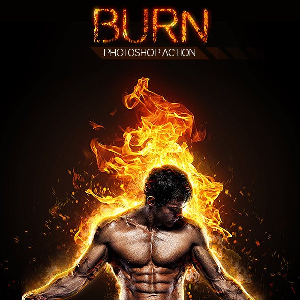 Burn Photoshop Action