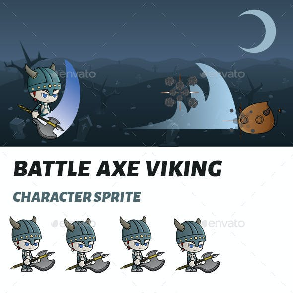 Battle Axe Viking Sprite