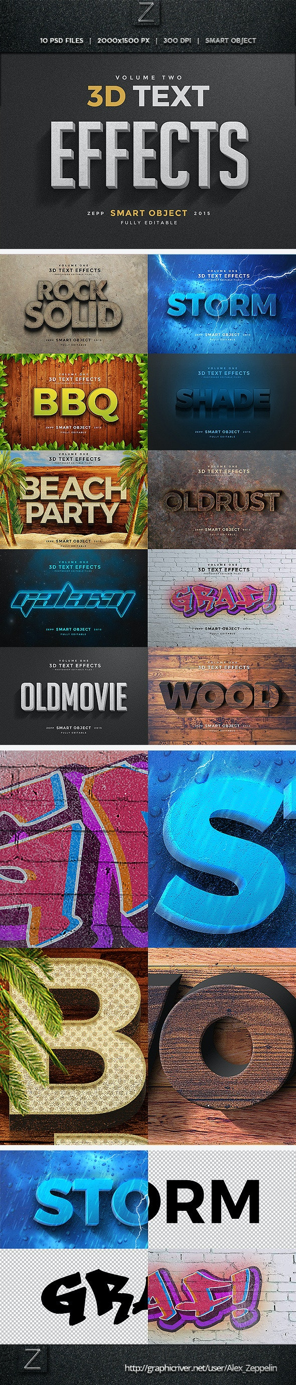 3D Text Effects Vol.2 - Text Effects Actions