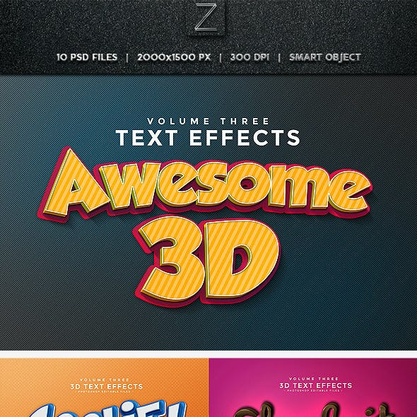 3D Text Effects Vol.3