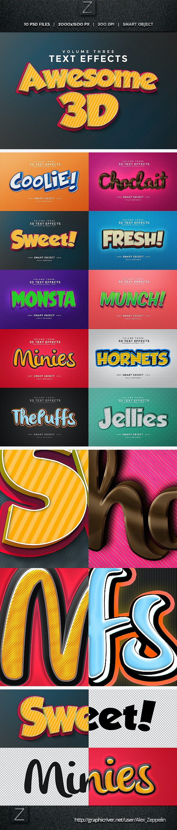 3D Text Effects Vol.3 - Text Effects Actions