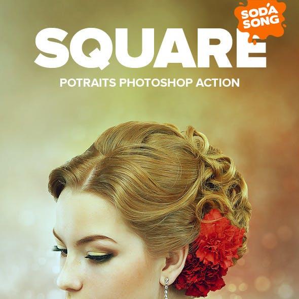 Square Potraits Photoshop Action