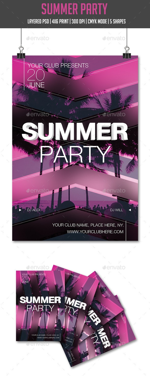 Summer Disco Party - Clubs & Parties Events