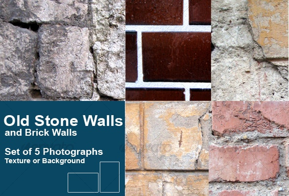 Old Stone Walls and Brick Walls - Stone Textures