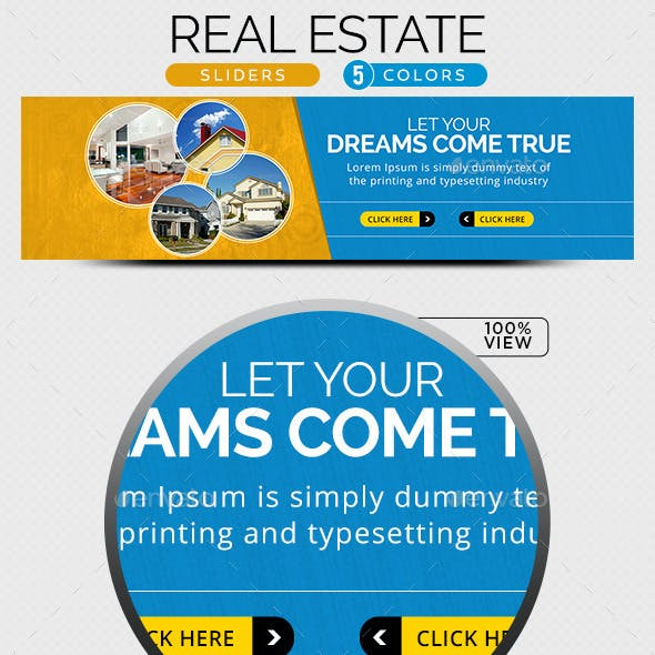 Real Estate Sliders - 5 color variations