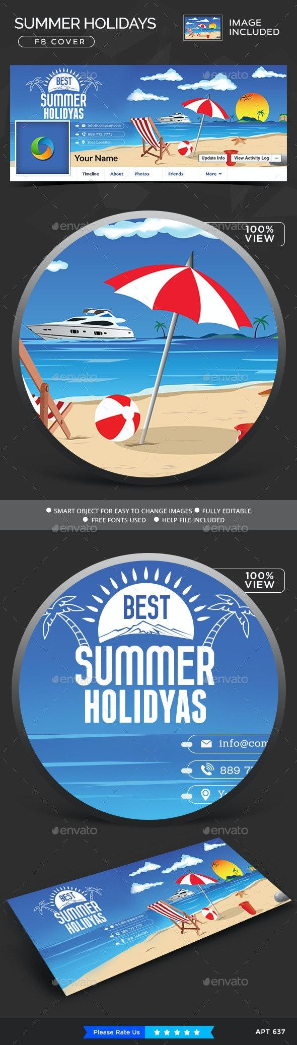 Summer Holidays Facebook Cover - Facebook Timeline Covers Social Media