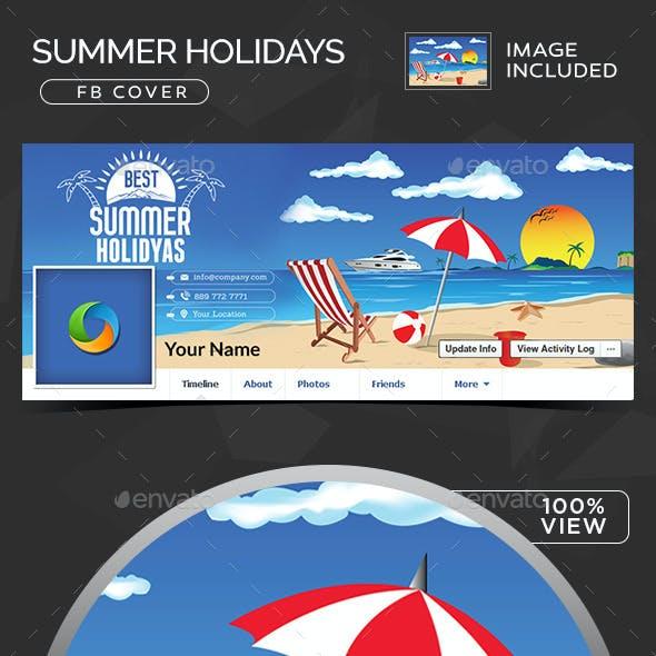 Summer Holidays Facebook Cover