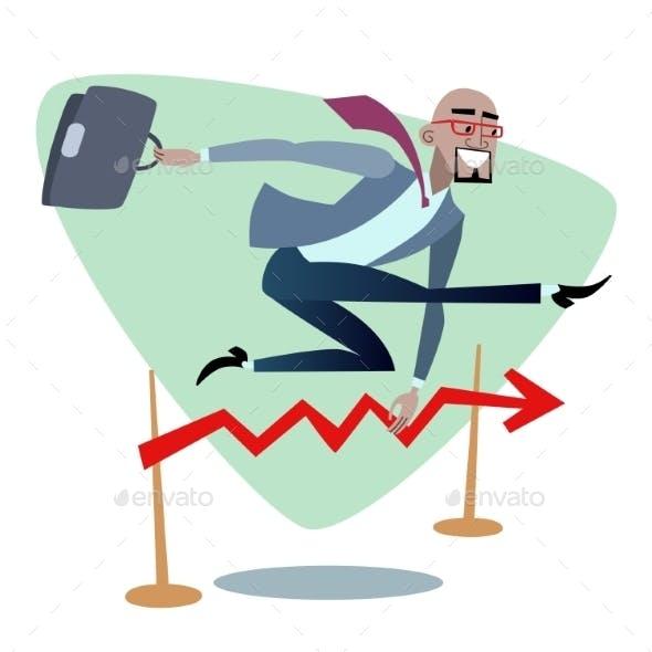 African Businessman Jumps Schedule Sales